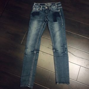Rock & Roll Cowgirl Dark Denim Jeans! Sz 25/32